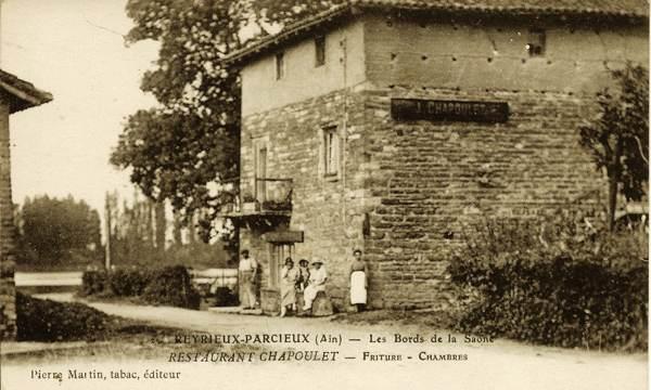 Restaurant Chapoulet à Reyrieux en bords de Saône au début 20e