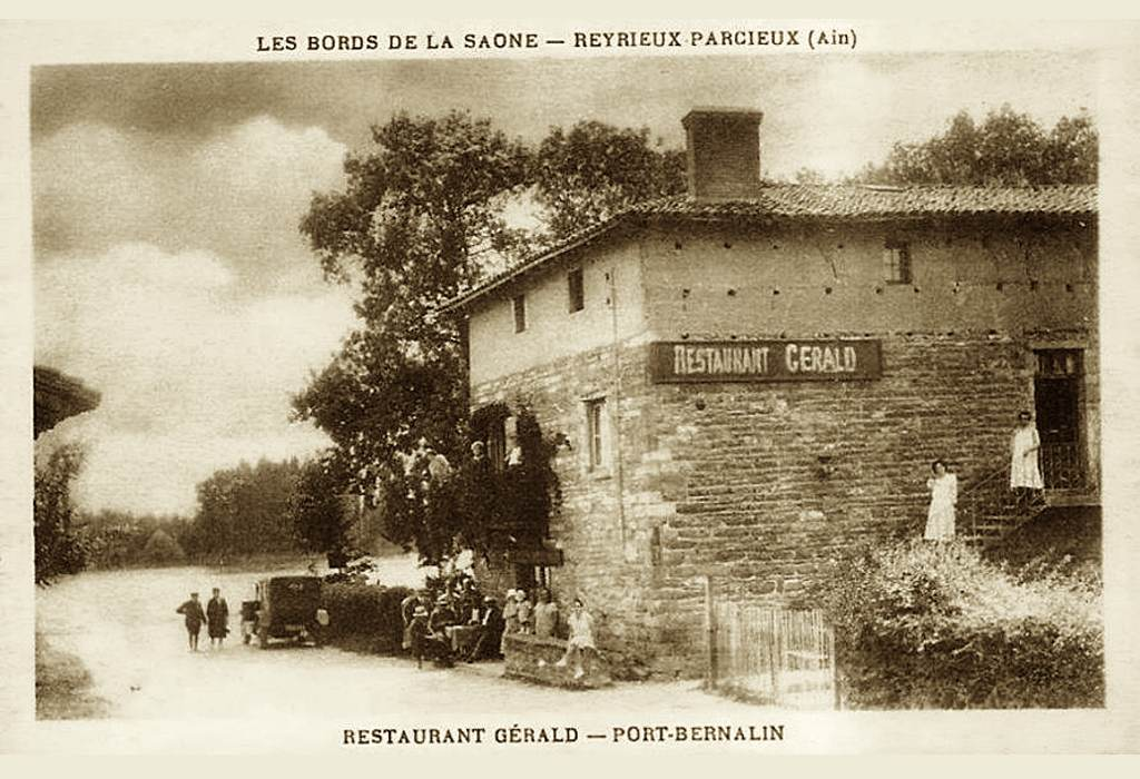 L'histoire du restaurant O2 Saône - Le restaurant Gérald au début du 20e