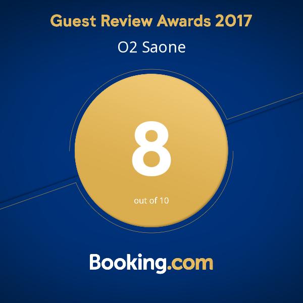 Booking Guest Review Award 2017 pour l'Hôtel O2 Saône