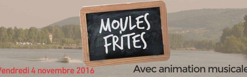 Soirée moules frites avec animation musicale en bord de Saône à Reyrieux