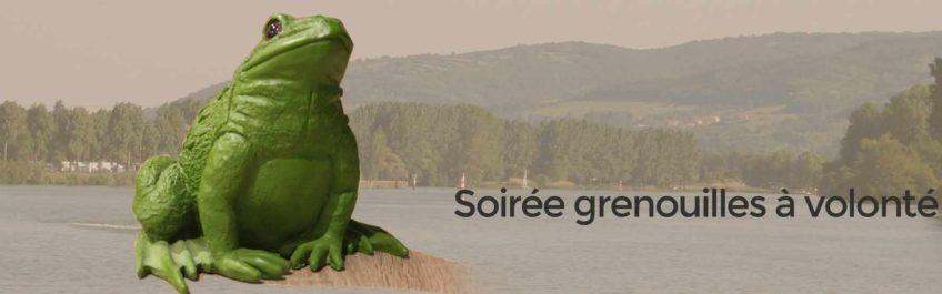Soirée grenouilles à volonté avec animation musicale à Reyrieux en bord de saone